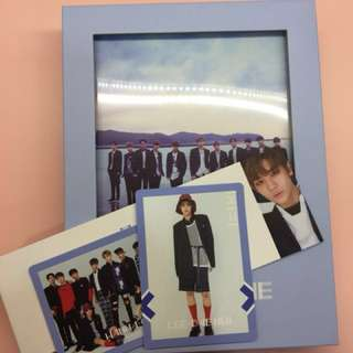 [wts] wanna one to be one blue ver unsealed w pc & poster