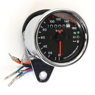 Motorcycle Gauge Speedometer universal with Led Neutral Headlight and Signal Light