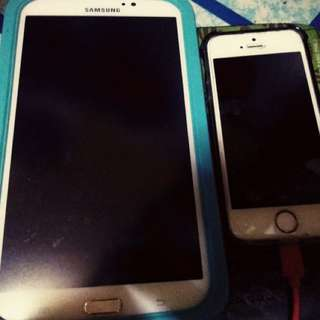 Iphone 5s with samsung tab