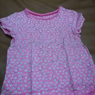 Mothercare pink hearts top