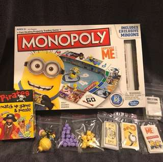 Monopoly for kids & Memory cards games