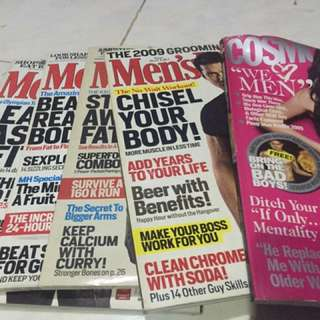 Back issues FHMs, Men's Health