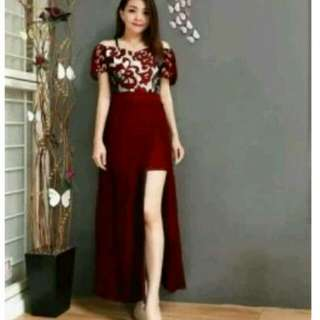 Dress salsa red