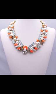 Pearl orange necklace