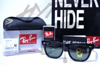 Ori Ray Ban Wayfarer Classic RB2140 901 Black 54MM Large Asian Fit.