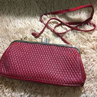 clutch/sling bag in red