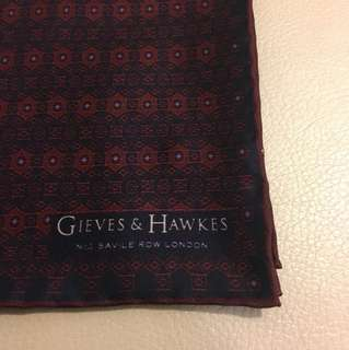Gieves & Hawkes 袋巾 Pocket Square ted baker