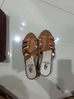 Brown Wedges Size 38 By Hush Puppies Heels