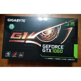 GIGABYTE GeForce GTX 1060 G1 Gaming 3GB (rev. 2.0) x 2