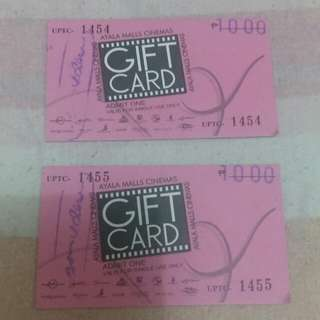 Ayala Malls Cinemas Gift Card