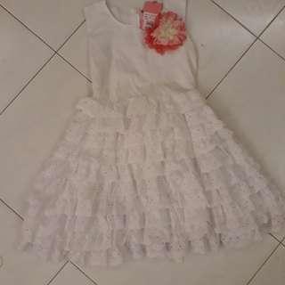 Kids white dress