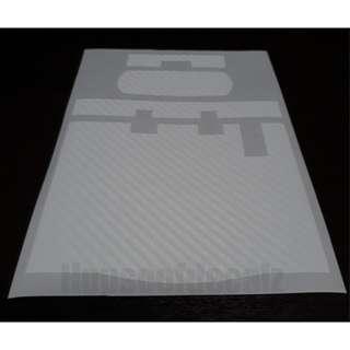 Slim iu unit Matte White Carbon fibre Sticker
