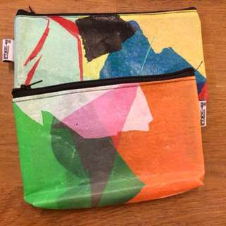 Zip Pouch (Upcycled Handicraft)