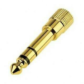 Readystock gold Electric piano keyboard electronic drum connector DJ headphones jack plug
