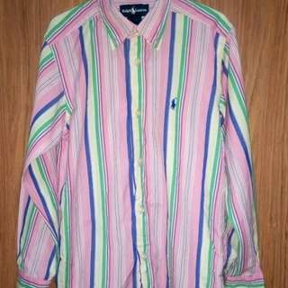 Polo Ralph Lauren Small Pony Multi-Color Shirt Like New