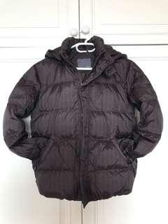Brown down jacket