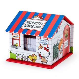 Japan Sanrio Hello Kitty House Shaped Case Memo & Sticky Notes