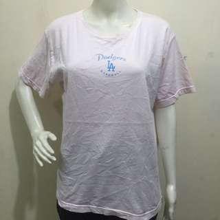 SOFT AS A GRAPE light pink ladies tshirt blouse large