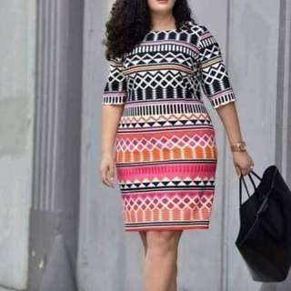 Aztec plus size dress