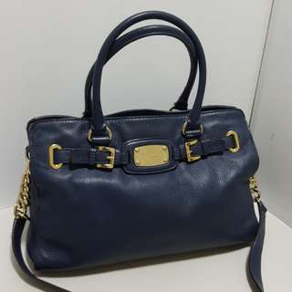 Auth Michael Kors Large Hamilton Navy coach kate spade gucci rebeanco tory