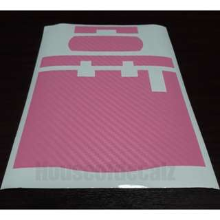 Slim iu unit Matte Pink Carbon Fibre Sticker
