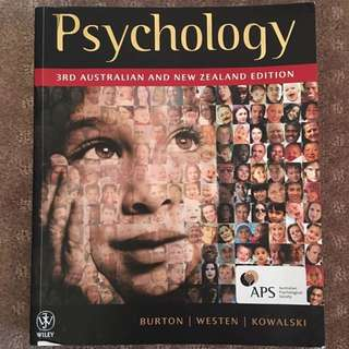 Psychology 3rd Ed. AUS & NZ by Burton, Westen & Kowalski