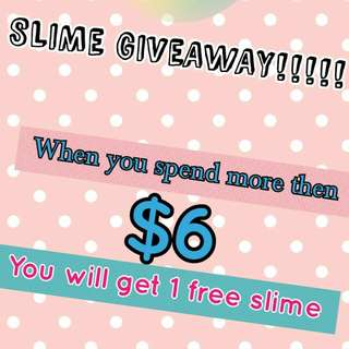 Slime giveaway