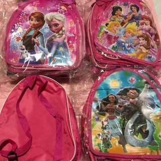 Instock kids goodies bag .. durable can use after event as casual bag brand new .. character have frozen/Sofia/Moana/trolls .. bulk purchase pls pm me