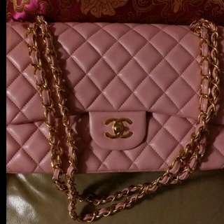 Chanel double flap Jumbo 1:1 in lamb skin