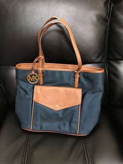 Michael Kors Navy Tote Bag