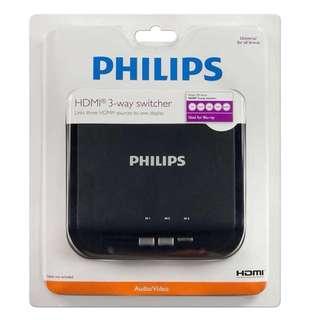 全新 Philips HDMI 3 way switcher