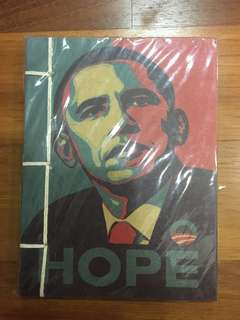 Obama brown paper notebook
