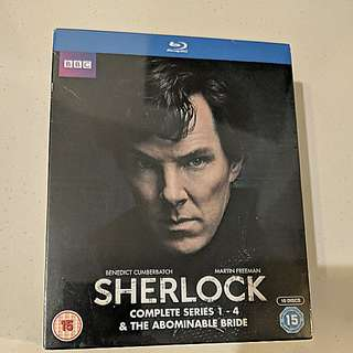Sherlock Series 1 - 4 Blu Ray, unopened