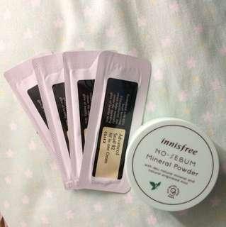 Bundle Innisfree No Sebum Mineral Powder & Cosrx Snail All in One Cream Sample Size