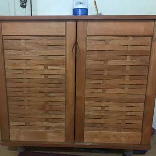 3 wooden shoe cabinets for sale as bundle