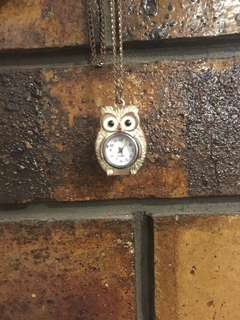 Owl watch pendant