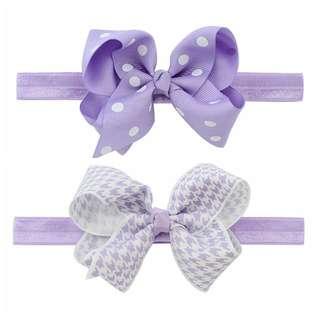 🐰Instock - 2pc purple assorted headband, baby infant toddler girl children sweet kid happy abcdefg