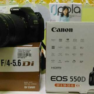 Canon Dslr EOS 550D to let go