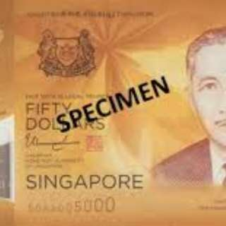 Singapore $50 commemorative notes X 2