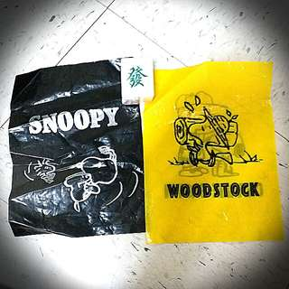 Charlie Brown Snoopy Woodstock Plastic Bag 史奴比查理膠袋