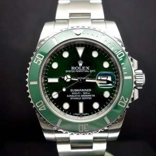 Rolex Hulk Submariner 116610LV don't miss out! New hulks on carousell starting from $15s to 16.5k