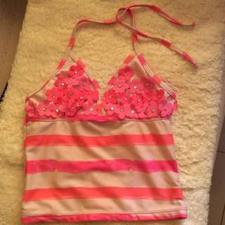 Swimsuit top for baby girls