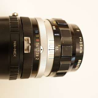 Nikkor O 35mm F/2 Pre-AI old lens + Mount Adapter for Sony E