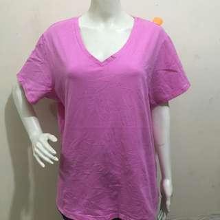 FADED GLORY pink BNWT plain plus size women tshirt blouse xxxl