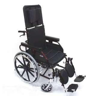Aluminum Recliner Wheelchair - 16 Inch