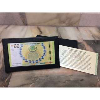 Single RM60 Banknote Commemorative Banknote 2018