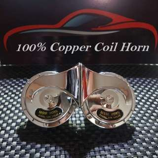 Car Horn High/Low 510Hz MSM-300 Electromagnetic Shell Horns