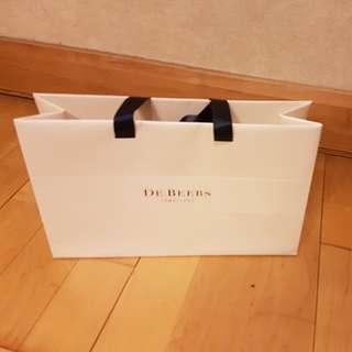 De Beers Paper Bag