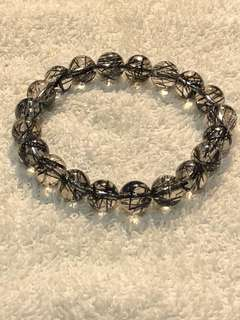 Black rutilated bracelet 10mm 黑发晶