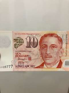$10 note 777